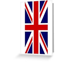 British, Union Jack Flag, 1;2 UK, Blighty, United Kingdom, Portrait, Pure & simple  Greeting Card