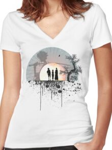 Samurai Champloo - Sunset Women's Fitted V-Neck T-Shirt