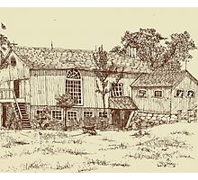 Restored Barn Home Photographic Print