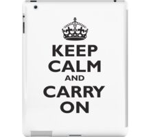 KEEP CALM, Keep Calm & Carry On, Be British! Blighty, UK, United Kingdom, Black on white iPad Case/Skin