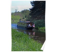 Narrow Boat on the Union Canal Poster