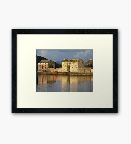 Sunlight Over The Quay. Framed Print