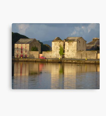 Sunlight Over The Quay. Canvas Print