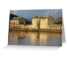 Sunlight Over The Quay. Greeting Card