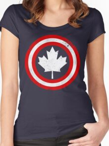 Captain Canada (White Leaf) Women's Fitted Scoop T-Shirt