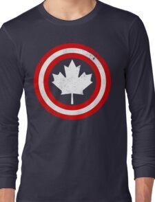 Captain Canada (White Leaf) Long Sleeve T-Shirt