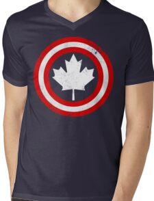 Captain Canada (White Leaf) Mens V-Neck T-Shirt