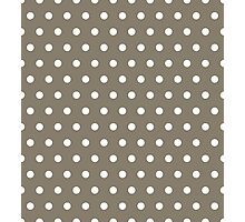 Small White Polka Dots on WarmGrey background Photographic Print