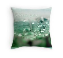 Absolute green Throw Pillow