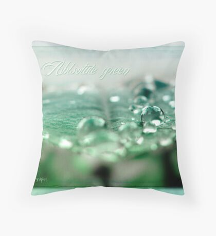 Absolute green Throw Pillow