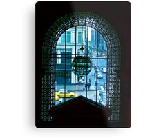 New York City through a looking glass Metal Print