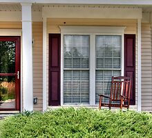 porch with rocking chair by henuly1