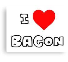 I Heart Bacon Canvas Print