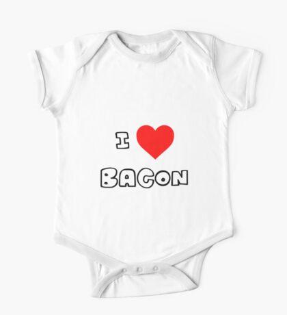 I Heart Bacon One Piece - Short Sleeve