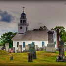 Stormy Skies Over the Cemetery in Greenfield by Monica M. Scanlan