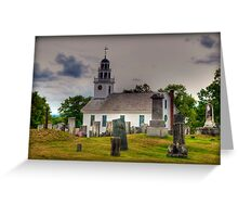 Stormy Skies Over the Cemetery in Greenfield Greeting Card