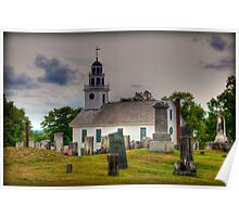 Stormy Skies Over the Cemetery in Greenfield Poster