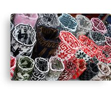 Wool Bags at the Otavalo Craft Market Canvas Print