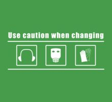 caution when changing Kids Tee
