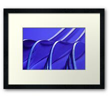 Kitchen Rhapsody: Fork Waves Framed Print