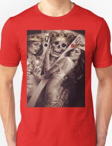 King and queens spades and hearts playing cards cartoon design Unisex T-Shirt