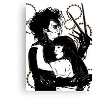 Edward Scissorhands and Kim Canvas Print