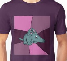Funky Colorful Aardvark Art Abstract Unisex T-Shirt