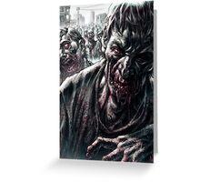 Zombie Horde Greeting Card