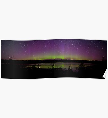 Northern Lights in the Bruce Peninsula of Ontario Poster