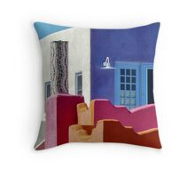 The mosaic chimney Throw Pillow