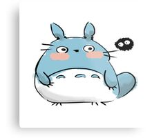 Chibi Totoro and a Soot Metal Print