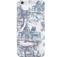 Venetian Toile. Blue iPhone Case/Skin