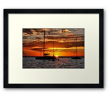Sinking in the Water Framed Print