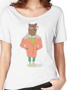 hipster bear Women's Relaxed Fit T-Shirt