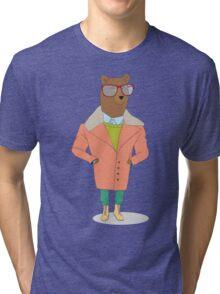 hipster bear Tri-blend T-Shirt