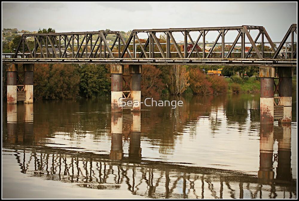 The Wanganui River Rail Bridge by Sea-Change