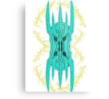Sauron Mirror Green Metal Print
