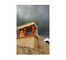 Storm over Knossos Art Print