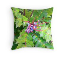 Beauty and the Beast - Leatherleaf Mahonia Throw Pillow