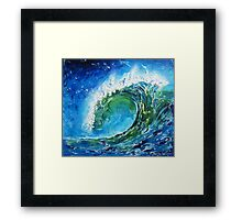 The wave's power Framed Print