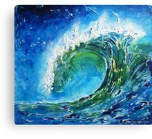 The wave's power Canvas Print