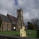 Deloraine Church in moody weather by gaylene