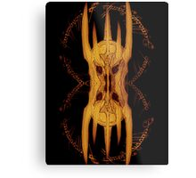 Sauron Mirror Flame Metal Print