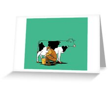 Do you like milk ! Greeting Card