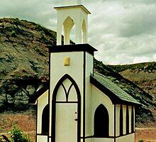The Little Church, near Drumheller, Alberta, Canada  by Adrian Paul