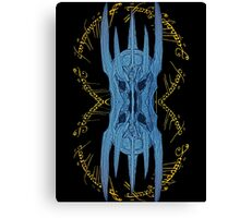 Sauron Mirror Blue Canvas Print