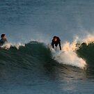 Caught a wave,Torquay Surf Beach by Joe Mortelliti