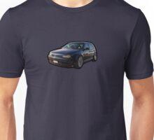 Blue Volkswagen Golf Mk4 Unisex T-Shirt