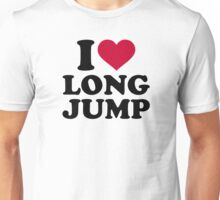 I love long jump Unisex T-Shirt