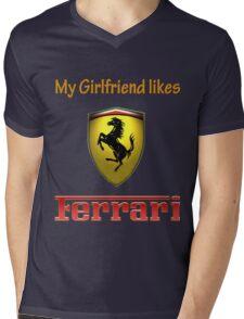 My girlfriend likes a ferrari Mens V-Neck T-Shirt